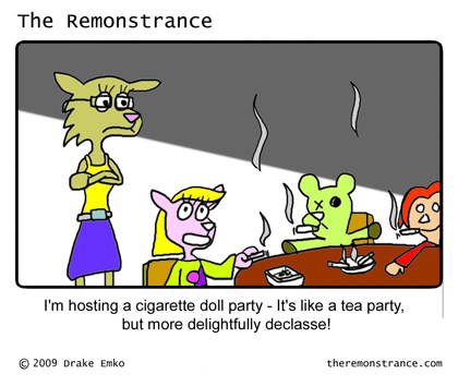 The Modern Doll Party - The Remonstrance comic for 2009-01-27. Word of the day: declasse