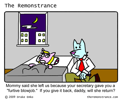 Kids Say the Darnedest Things - The Remonstrance comic for 2009-08-17. Word of the day: furtive