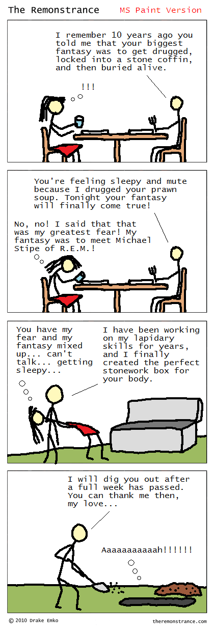 What Women Want - The Remonstrance comic for 2010-05-17. Word of the day: lapidary