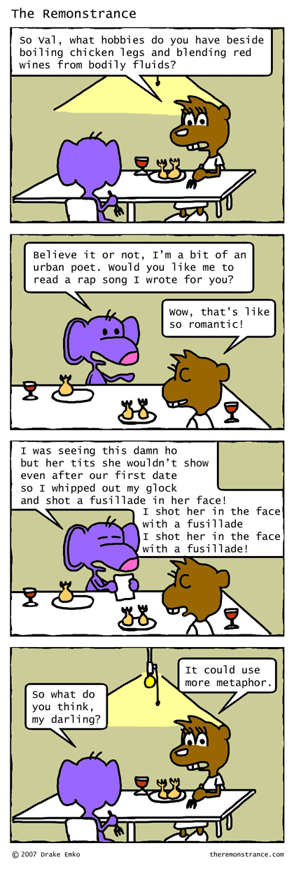 Fusillade - The Remonstrance comic for 2007-10-29. Word of the day: fusillade